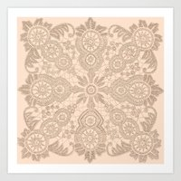 Pale Pink Lace Art Print