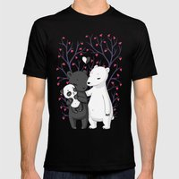 Bear Family Mens Fitted Tee Black SMALL
