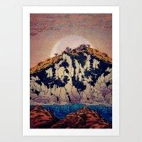 Art Prints featuring Guiding me across Nobe by Kijiermono