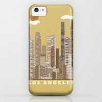 iPhone 5c Cases featuring los angeles city   (vintage) by bri.buckley