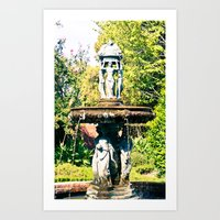 Cajun Fountain Art Print