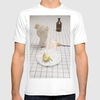 Marble Pear  Mens Fitted Tee White SMALL