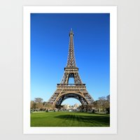 The Eiffel Tower Early Morning Art Print