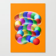 Canvas Print featuring TOY Slinky by Alessandro Strickner