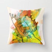 Moose Head Throw Pillow
