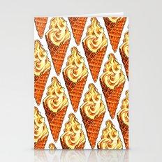 Vanilla Soft Serve Pattern Stationery Cards