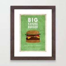 Pulp Fiction - big kahuna burger Framed Art Print