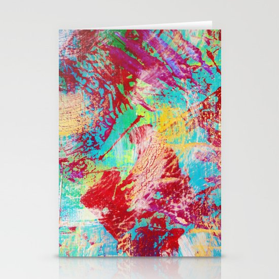 REEF STORM - Fun Bright BOLD Playful Rainbow Colors Underwater Ocean Reef Theme Coral Aquatic Life Stationery Card