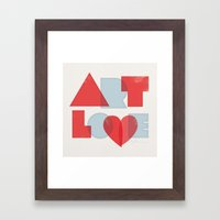 Art Love Framed Art Print