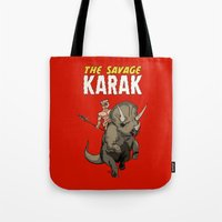 The Savage KARAK, King of Devil Jungle Island Tote Bag