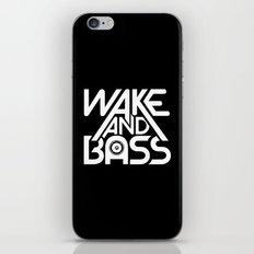Wake And Bass (White) iPhone & iPod Skin