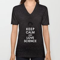 Keep Calm And Love Scien… Unisex V-Neck