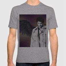 Castiel Mens Fitted Tee Athletic Grey SMALL