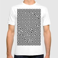 Diagonology Skull  #1 Mens Fitted Tee White SMALL