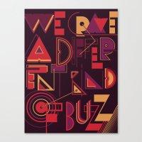 A Different Buzz Canvas Print