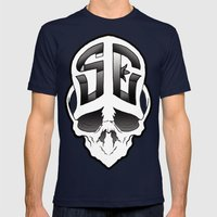 Soul Expressions logo Mens Fitted Tee Navy SMALL