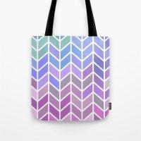 blue & purple chevron Tote Bag