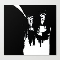 Canvas Print featuring blues brothers by serenita