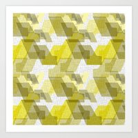 Voutis Yellow Art Print