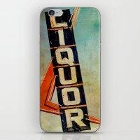 Vintage Liquor Sign iPhone & iPod Skin