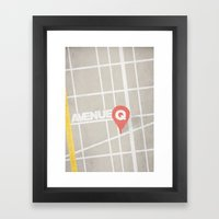 AVENUE Q Minimal Musicals  Framed Art Print
