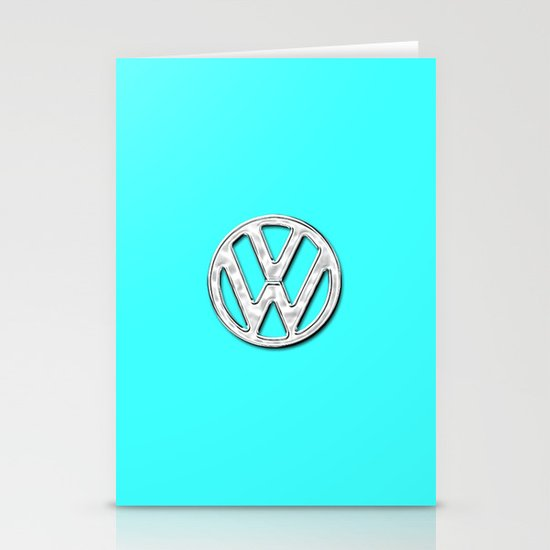 VW teal Stationery Card