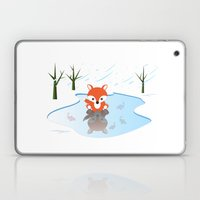 Little Fox On Ice Laptop & iPad Skin