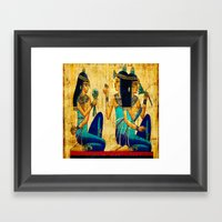 Egyptian Women Framed Art Print