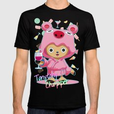One Piece: TonyTony Chopper SMALL Mens Fitted Tee Black