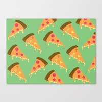 Pizza Is Love Canvas Print