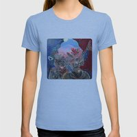 Mine Is Bigger Womens Fitted Tee Athletic Blue SMALL