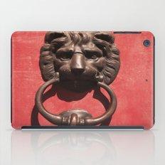 Red Door With Lion Head  iPad Case