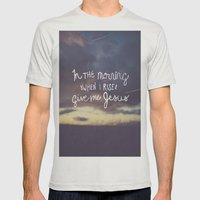 Give me Jesus Mens Fitted Tee Silver SMALL