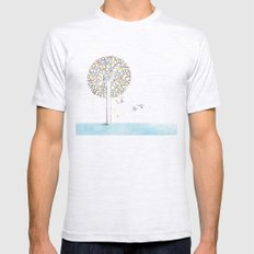 tree Mens Fitted Tee Ash Grey SMALL
