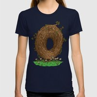 The Natural Donut Womens Fitted Tee Navy SMALL