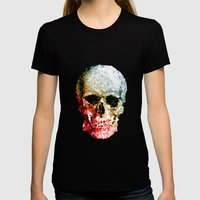 Skull Coloride Womens Fitted Tee Black SMALL
