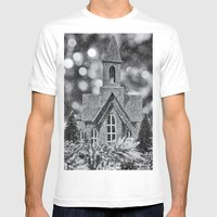 Winter Wonderland Mens Fitted Tee White SMALL