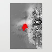 On/off Canvas Print
