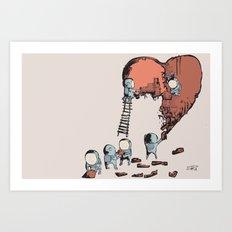 Mending a Broken Heart Art Print