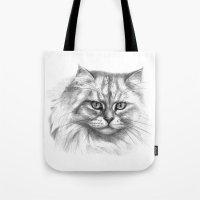 Expressive Glance Cat G1… Tote Bag