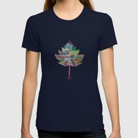 Like A Tree 2. Version Womens Fitted Tee Navy SMALL