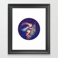 Spatial Rabbit Framed Art Print
