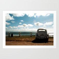 Mirando el horizonte Art Print