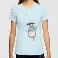 Totoro Womens Fitted Tee Light Blue SMALL