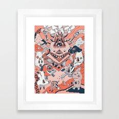 Lif Skogur Framed Art Print