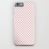 Taupe Polka Dots on Pink iPhone 6 Slim Case