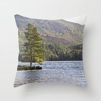 The Lonely Tree Throw Pillow