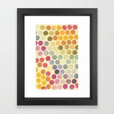 Stamp Dots 2 Framed Art Print