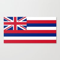 The State flag of Hawaii - Authentic version Canvas Print