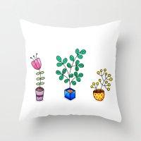 Flower pots Throw Pillow
